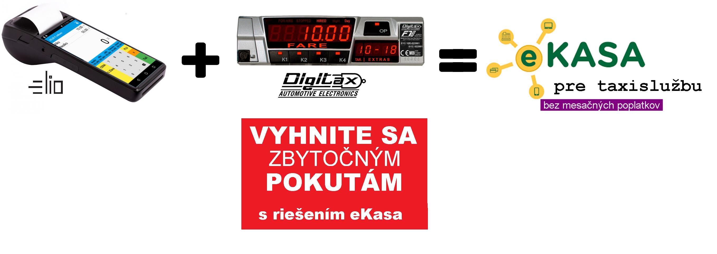 Prepojenie eKasy s taxametrom a tlačiarňou