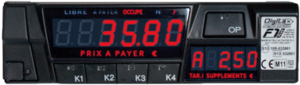Taxameter Digitax F1 plus čierny